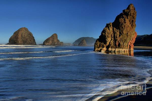 Photograph - Bandon Sea Stacks In The Surf by Adam Jewell