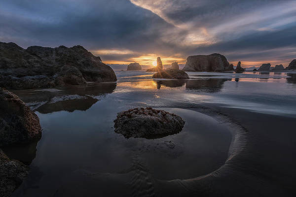 Oregon Coast Wall Art - Photograph - Bandon Sunset by Donald Luo