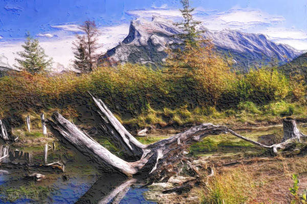 Wall Art - Painting - Banff National Park by Wayne Bonney