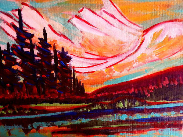 Painting - Banff Rocky Mountains by Nikki Dalton