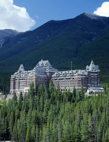 Photograph - 1m3302-banff Springs Hotel by Ed  Cooper Photography