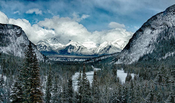 Photograph - Banff Springs Valley In Winter by Levin Rodriguez