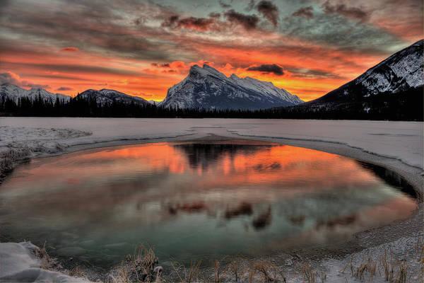 Vermillion Lakes Wall Art - Photograph - Banff Sunrise by Howard Kilgour