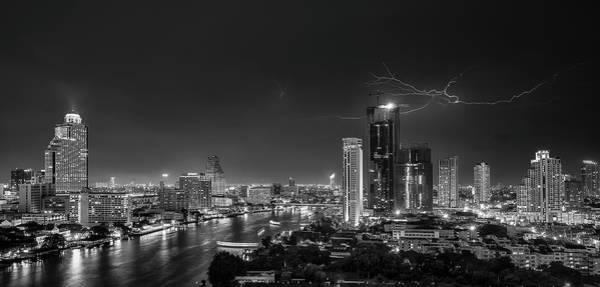 Electricity Wall Art - Photograph - Bangkok Lightning by Stefan Schilbe