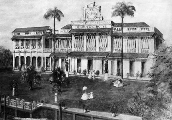 1880 Drawing - Bangkok Oriental Hotel by Granger