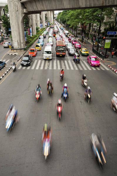 Motor Scooter Photograph - Bangkok Rush by @ Didier Marti