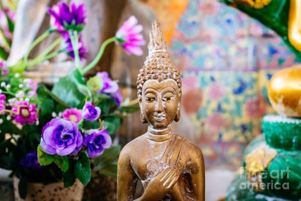 Wall Art - Photograph - Bangkok Temple Buddha by Dean Harte