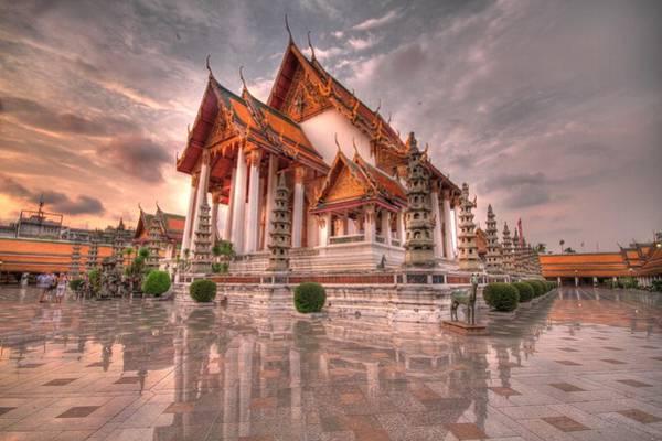 Wat Suthat Photograph - Bangkok Wat by Shawn Lonon