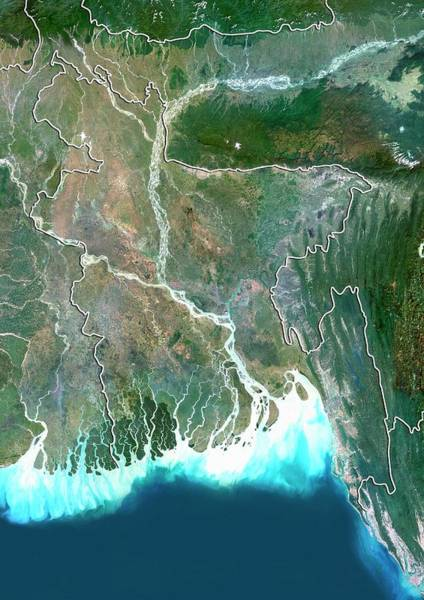 Ganges River Photograph - Bangladesh by Planetobserver/science Photo Library