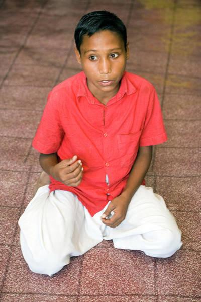 Talent Photograph - Bangladeshi Boy by Adam Hart-davis/science Photo Library