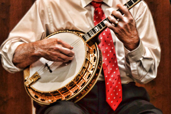 Strum Wall Art - Photograph - Banjo In Arms by Linda Phelps