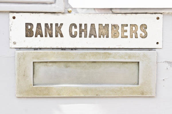Crypt Photograph - Bank Chambers by Tom Gowanlock