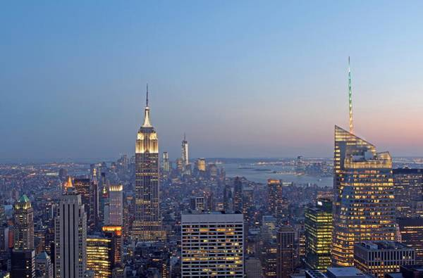 Photograph - Bank Of America And Empire State Building by Juergen Roth