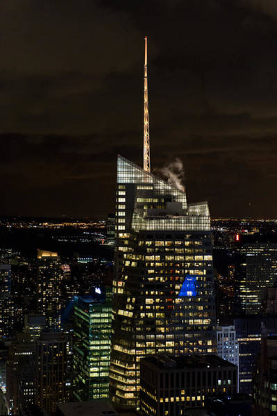 Photograph - Bank Of America Tower At Night by Gary Eason