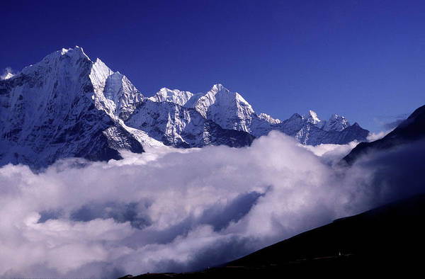 Khumbu Wall Art - Photograph - Bank Of Heavy Clouds Rolls Up The Gokyo by Paul Dymond