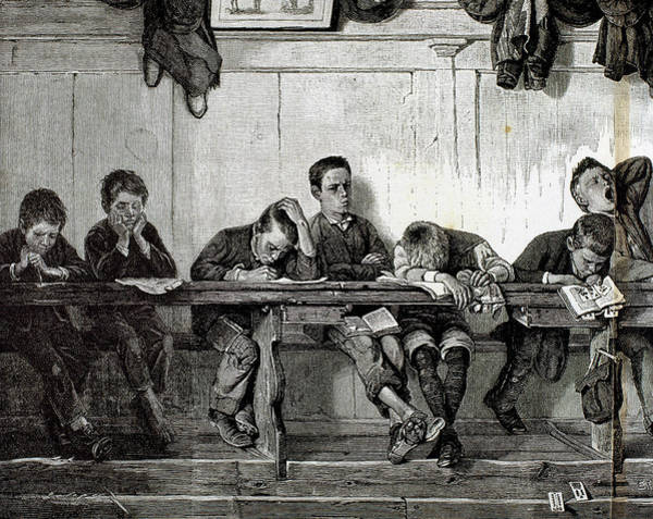 Yawn Photograph - Bank Of Punished In A School by Prisma Archivo