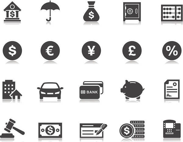 Banking & Finance Icons | Pictoria Series Art Print by Runeer