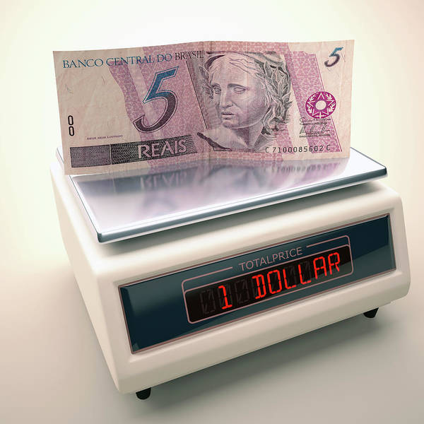 One Dollar Photograph - Banknote On Scales by Ktsdesign