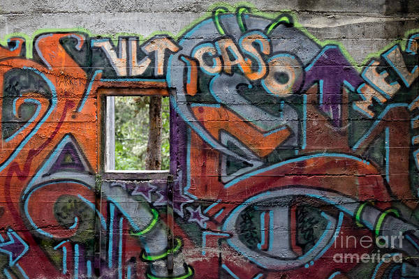 Canmore Photograph - Bankshead Graffiti by Edward Fielding