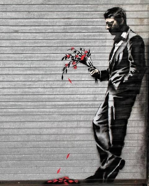 Hells Kitchen Wall Art - Photograph - Banksy At The Hustler Club by Jennifer Kelleher