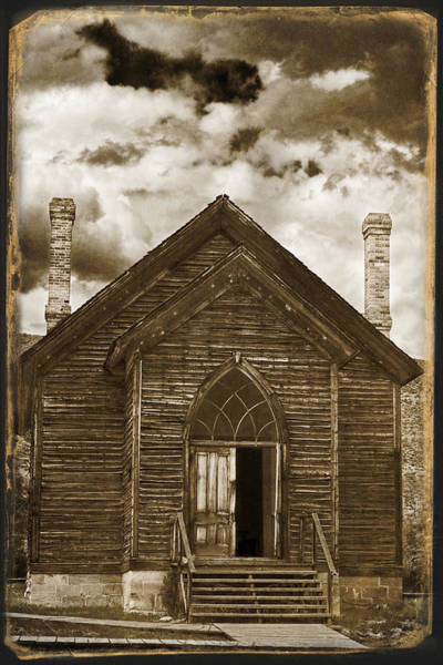 Photograph - Bannack Church by Wes and Dotty Weber