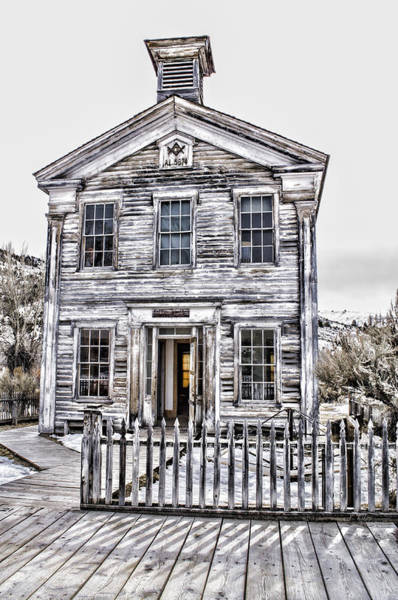 Photograph - Bannack Historic Masonic Lodge by Fran Riley