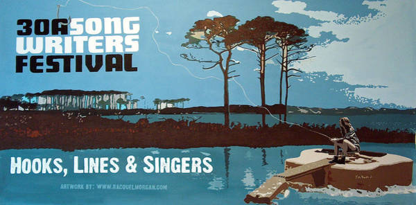 Wall Art - Painting - Banner For 30a Songwriters Festival by Racquel Morgan