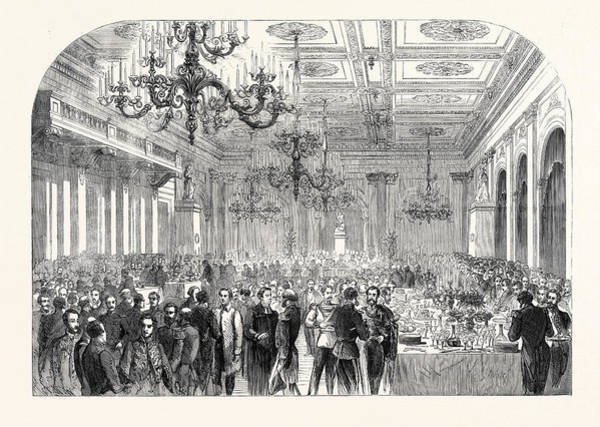 Wall Art - Drawing - Banquet Given At The Exchange Gottenburg On The Occasion by English School