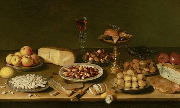 Walnut Photograph - Banquet Still Life by Jacob Foppens van Es