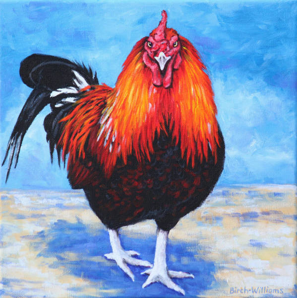Painting - Bantam Rooster by Penny Birch-Williams