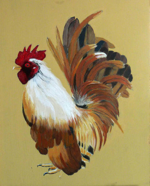 Painting - Bantam Rooster  by Richard Le Page