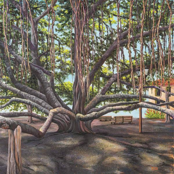 Painting - Banyan Tree Lahaina Maui by Darice Machel McGuire