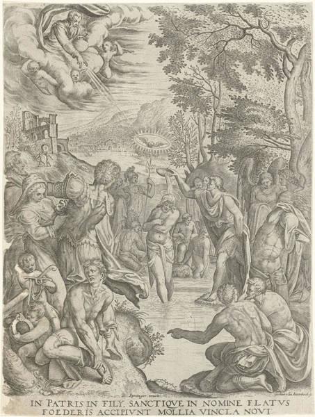 Holy Ghost Drawing - Baptism Of Christ, Egidius Horbeck by Egidius Horbeck