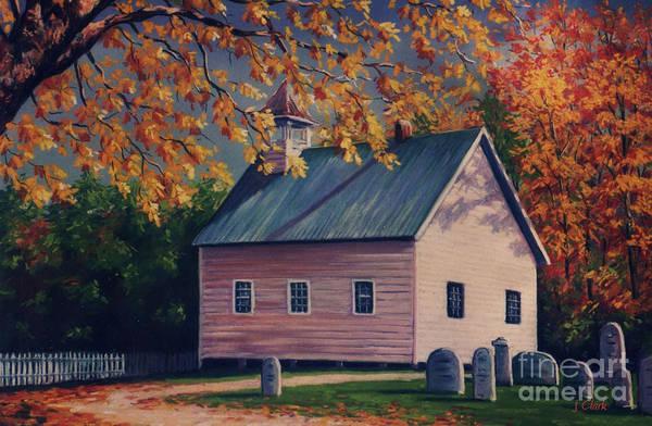 Wall Art - Painting - Baptist Church  Cades Cove by John Clark