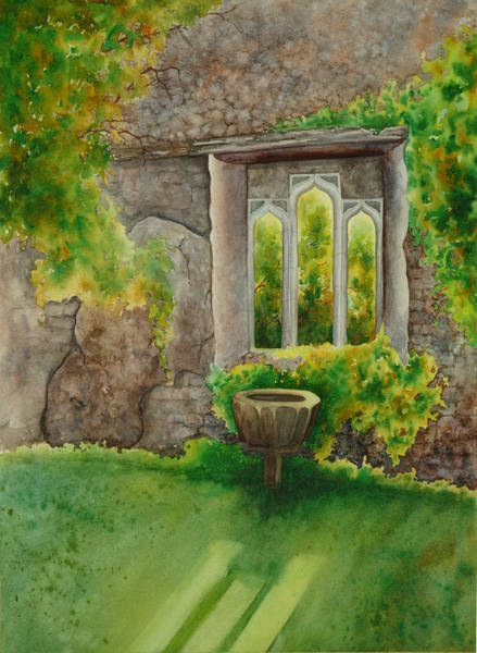 Painting - Baptistry At Lainston House  Winchester England by Johanna Axelrod