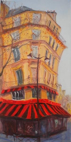 Parisian Photograph - Bar 77, 2010 Oil On Canvas by Antonia Myatt
