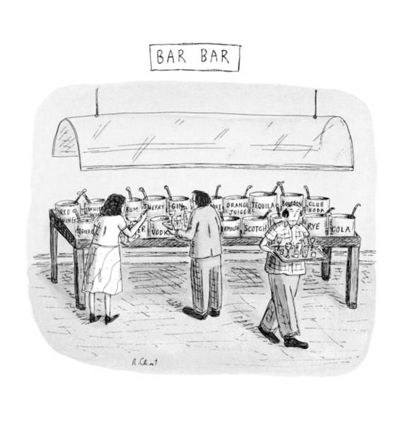 Drink Drawing - Bar Bar by Roz Chast
