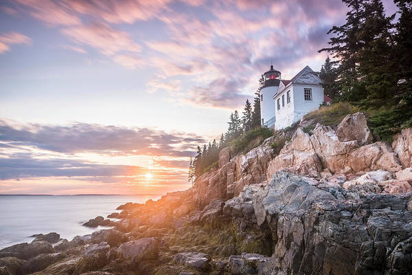 Wall Art - Photograph - Bar Harbor Head Lighthouse At Sunset by Cate Brown