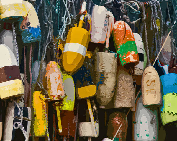 Photograph - Bar Harbour Lobster Buoys by Ginger Wakem