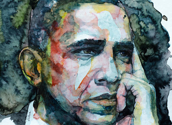 Obama Painting - Barack by Laur Iduc