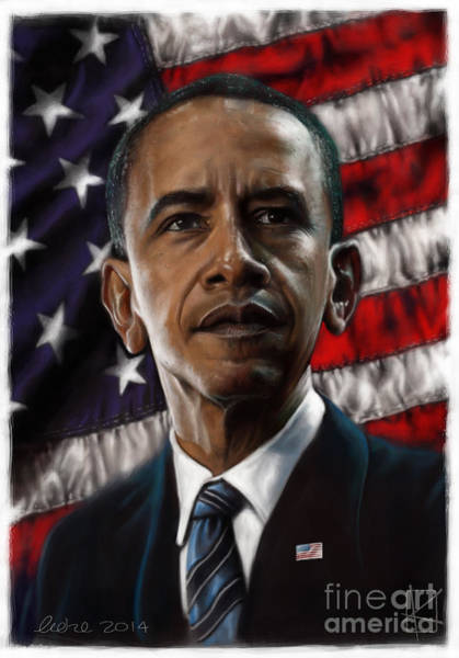 Barack Obama Wall Art - Digital Art - Barack Obama by Andre Koekemoer