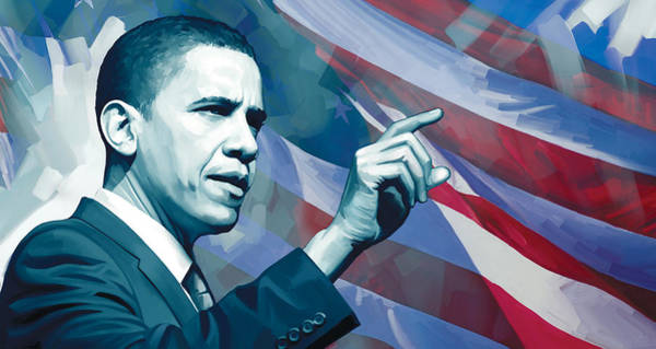 Obama Painting - Barack Obama Artwork 2 by Sheraz A