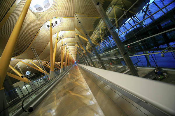 Capital Cities Photograph - Barajas International Airport, Madrid by Hisham Ibrahim