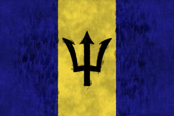 Wall Art - Digital Art - Barbados Flag by World Art Prints And Designs