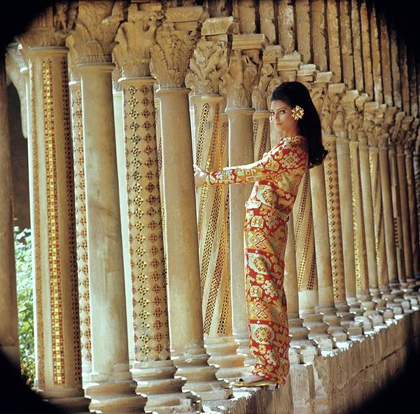 Barbara Bach In Monreale Art Print by Henry Clarke