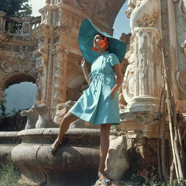 Italy Photograph - Barbara Bach Wearing Blue by Henry Clarke