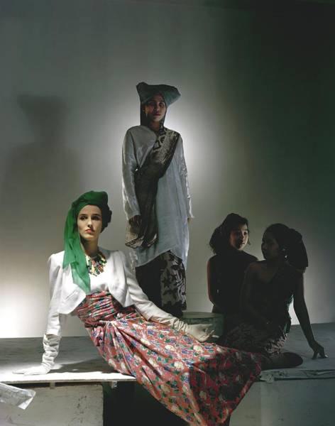 Photograph - Barbara Cushing Wearing A Turban by Horst P. Horst