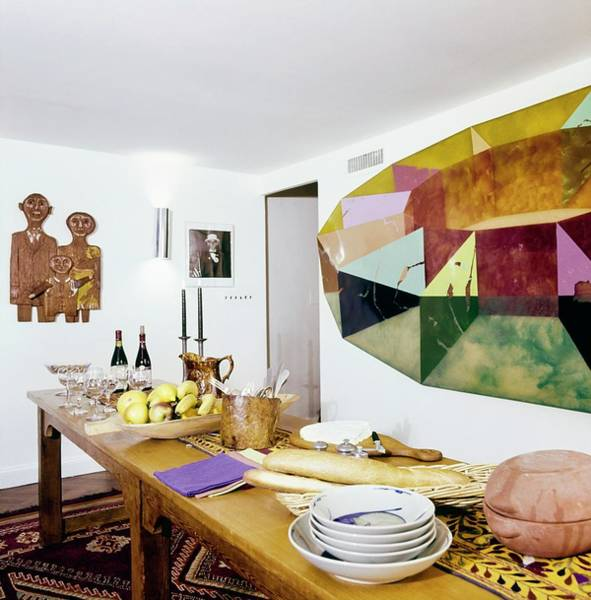 Wall Art - Photograph - Barbara Jakobson's Dining Room by Horst P. Horst