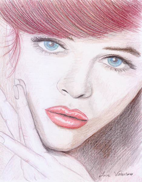 Drawing - Barbara Palvin by M Valeriano