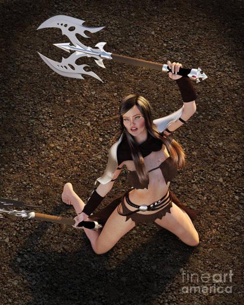Digital Art - Barbarian Warrior by Elle Arden Walby